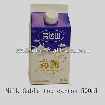 Gable top Milk cartons