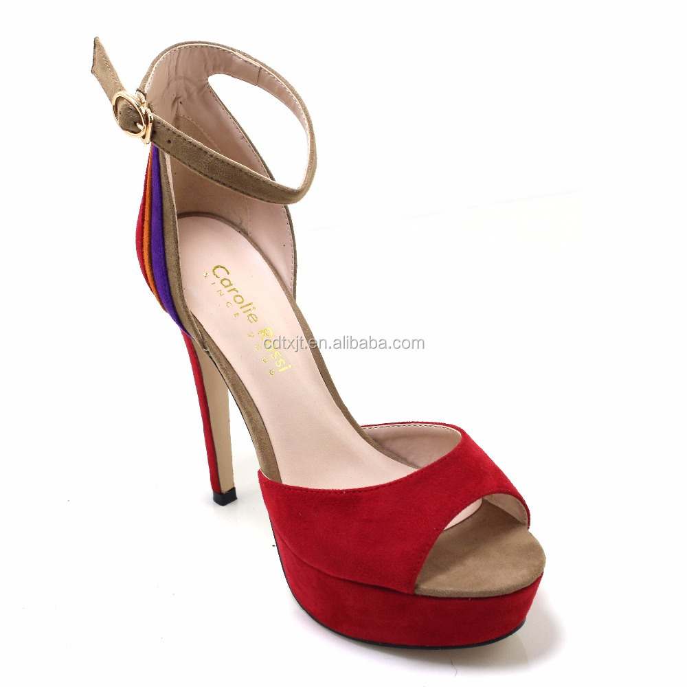 Elegant women shoes high heel shoes red waterproof platform platform women sandals