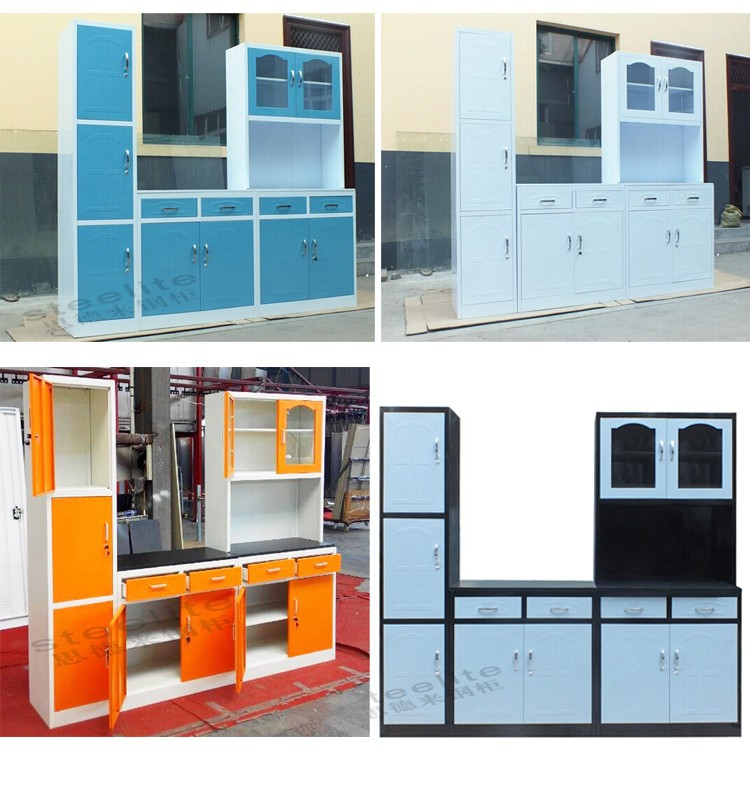 Factory sale dubai steel whole kitchen cabinet set metal for Kitchen cabinet sets for sale