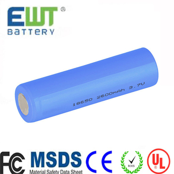 High quality Lithium ion 18650 3.7v battery cell rechargeable li-ion ICR 18650 3.7v 2600mAh