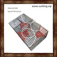 green rectangle folding crab trap net snow crab pot