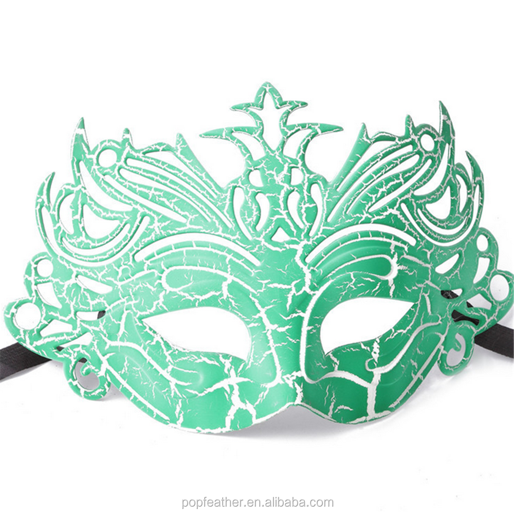 Fashion plastic halloween carnival party Venice crack mask for adults