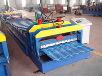 1080 cold metal roofing glazed tile roller building material machinery