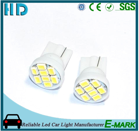 High bright and good quality t10 194 168 192 W5W 8smd 1206 3020 auto led car led lighting wedge led auto lamp