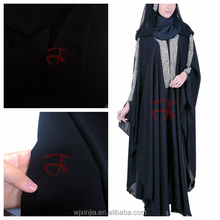 Formal black arab abaya fabric WOOL PEACH for lady dress
