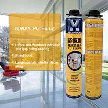 large expansion PU polyurethane expanding foam sealant clear