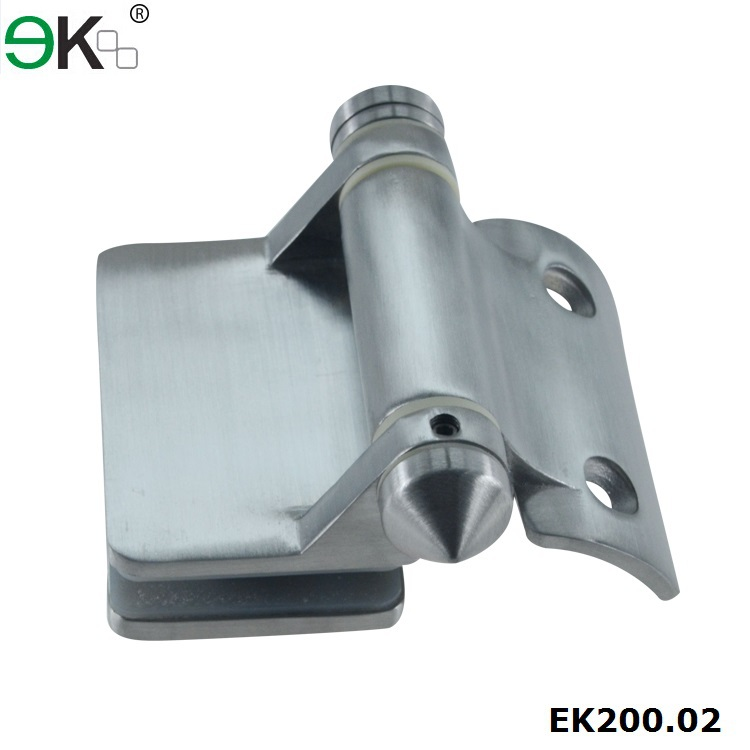 spring soft close round pipe glass door hinge