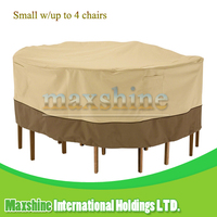 Garden Weatherproof Small Round Table and 4 Standard Chairs Set Furniture Cover