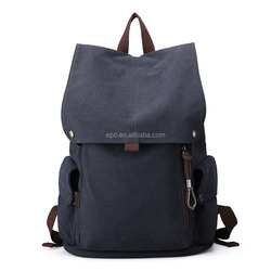 2016 Wholesale canvas school backpack for man