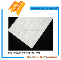 PVC plaster ceiling board,white color,996,975,154,238, 595x595x7mm,603x603x7mm foil back