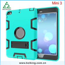High Quality Silicon Tablet Case For iPad Mini,For iPad Mini Shockproof Hard Kickstand Case