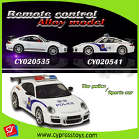 1:18 scale 4 function alloy rc car remote control police car
