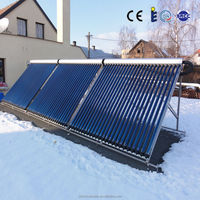 solar keymark approved heat pipe evacuated tube solar collector for solar heating system