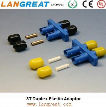 FIBER OPTIC ST Duplex Plastic Adaptor