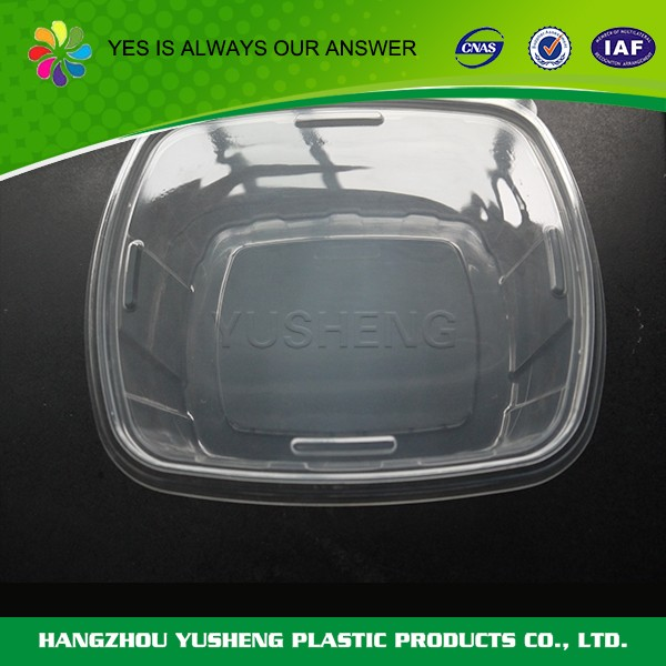 2017 New Design disposable round plastic container with lid