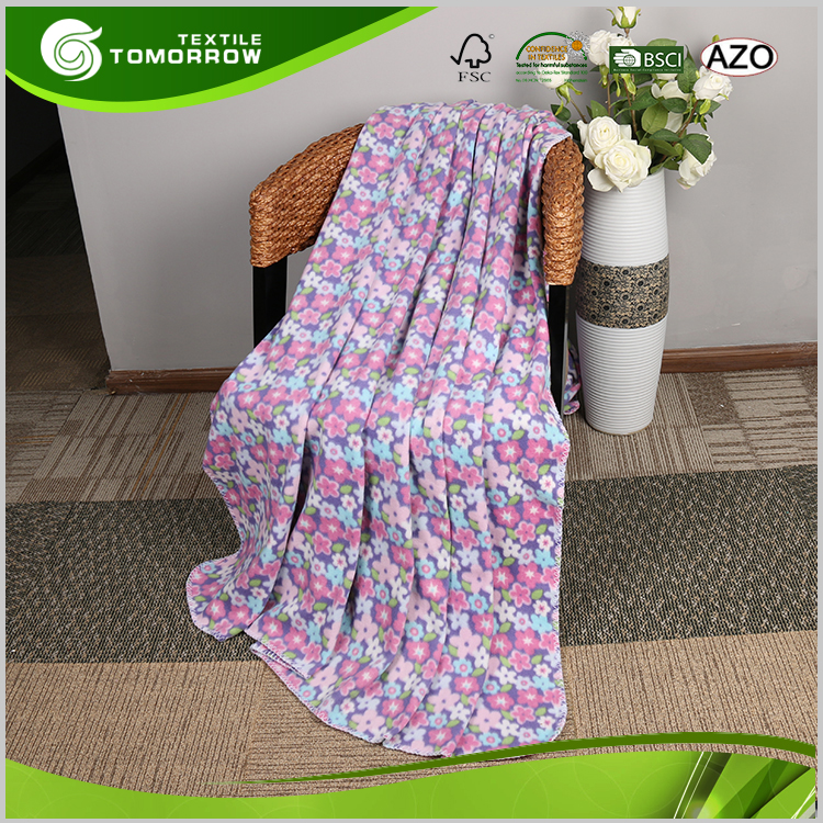Good price of custom heavy anti pilling polar fleece aviation blanket