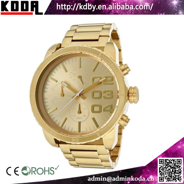 black dial big size cheap quartz all metal gold watch men view black dial big size cheap quartz all metal gold watch men