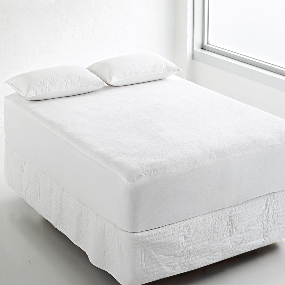 King Size 200TC 100% cotton white quilted hotel mattress protector waterproof,hypoallergenic waterproof mattress protector - Jozy Mattress | Jozy.net