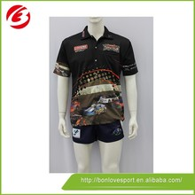 100% Polyester Sublimated Bowling Polo Shirts