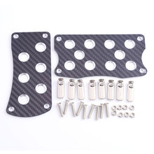 Car Accessories Auto High Quality Carbon Fiber Aluminum Racing Vehicles Car Pedal for AT
