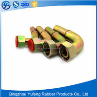 Copper threaded hydraulic hose fittings and hydraulic adapters