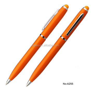 Factory sell your logo good look metal touch ball pen for gifts