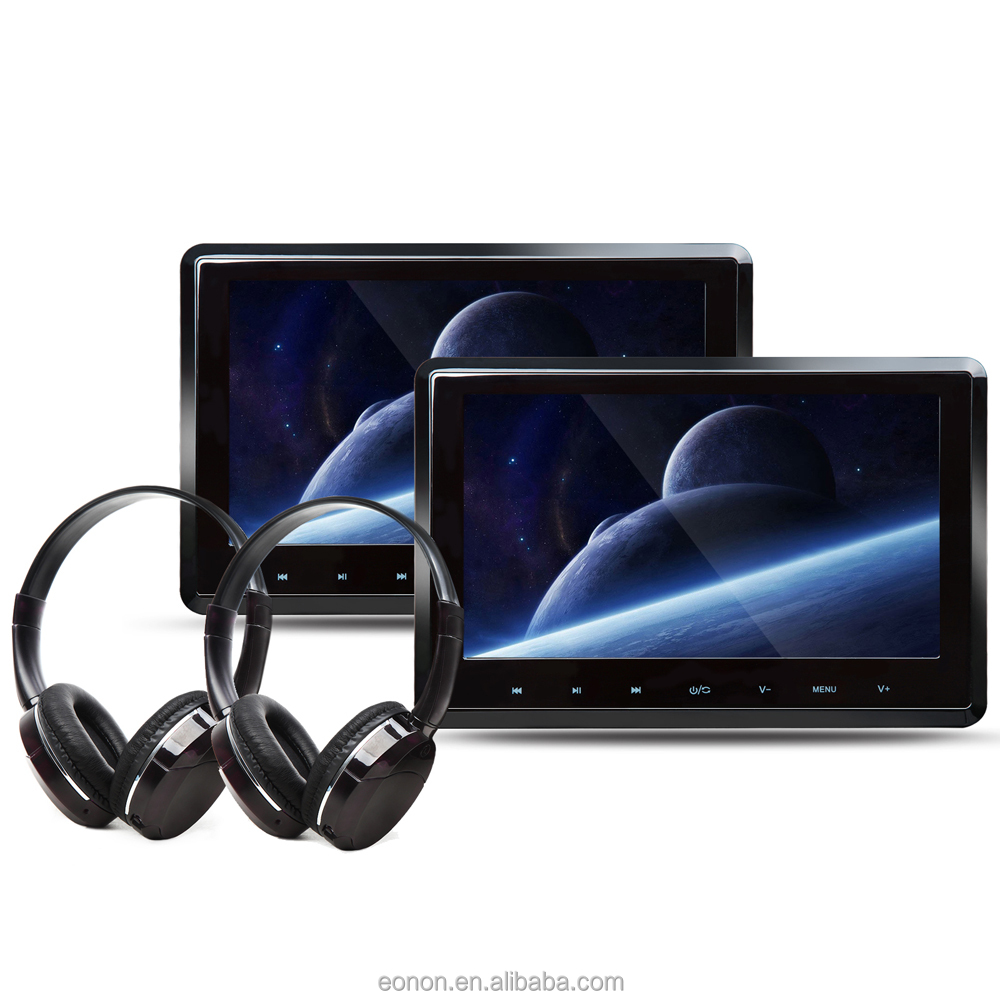 "EONON C1095 2X10.1"" Digital Touch Screen Attached Headrest DVD player with IR Headphone"