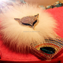 In Stock High Quality Crystal Rhinestone Gems Bling Mobile Phone Case With Diamante Fox & Fur For iPhone 6/7/8 Plus & X