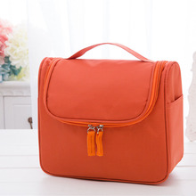 Orange Customized Women Cosmetic Bag Custom Make up Bag