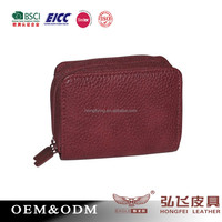 Wine red leather organ bag purse ,women's wallet