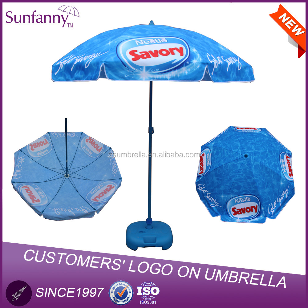 Factory High Quality Outdoor Custom Print logo promotional beach shangyu umbrella Umbrella