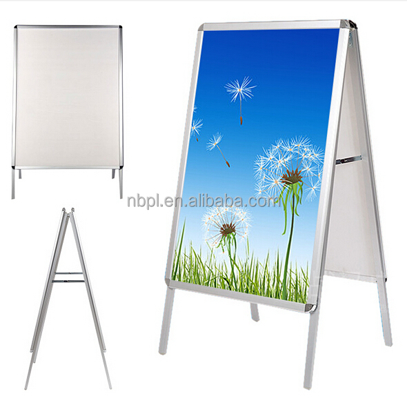 A1 A board double side aluminum pavement sign snap frame poster shop display
