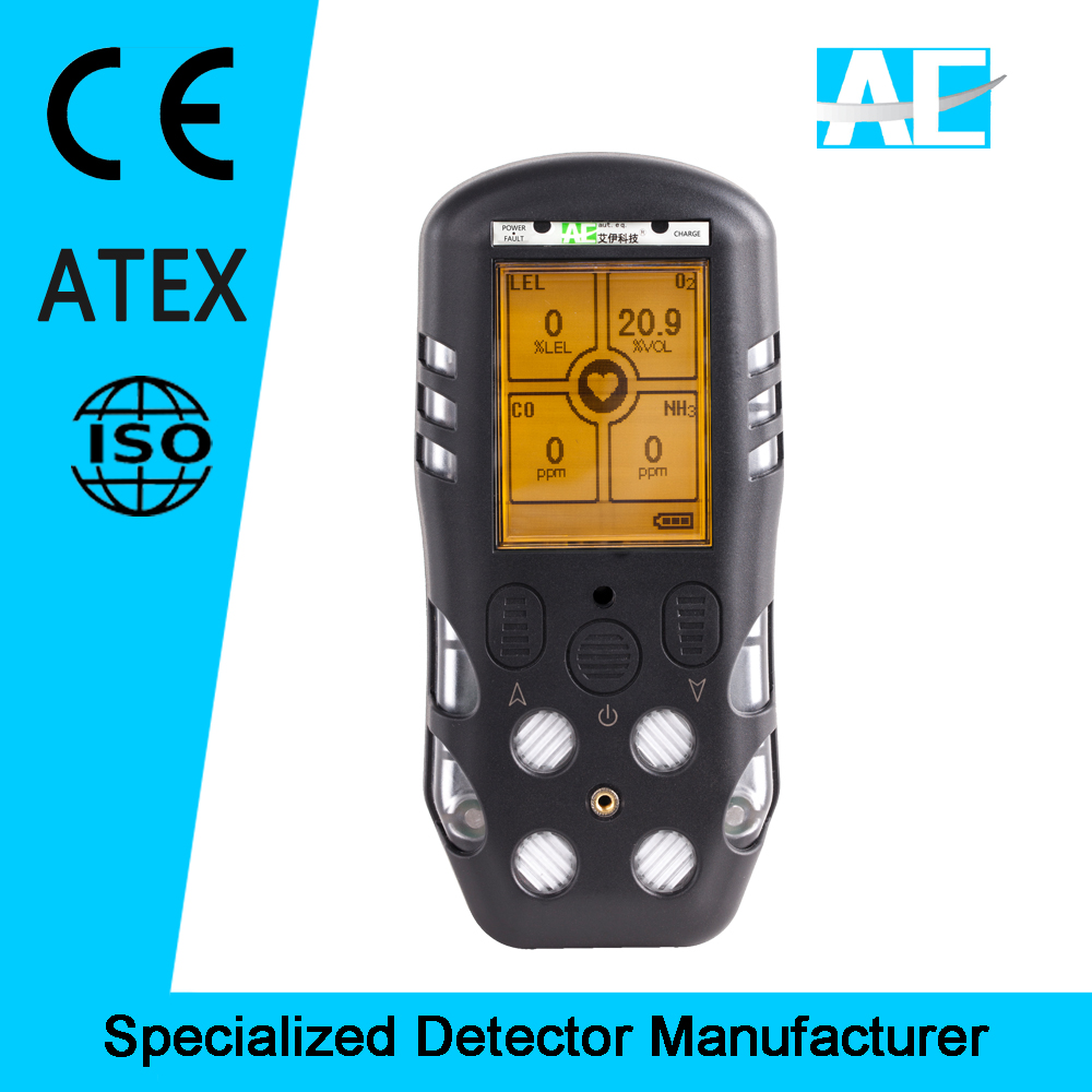 ATEX Approved IP66 portable gas detector easy calibration