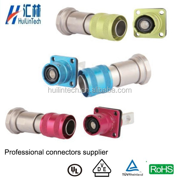 Colorful power plug high current automobile waterproof male cable connectors