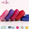 Wholesale 5/8'' 16mm polka dot custom printed grosgrain ribbon