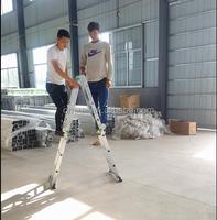 OMXAI EN 131/GS 3 step multipurpose aluminium folding ladder