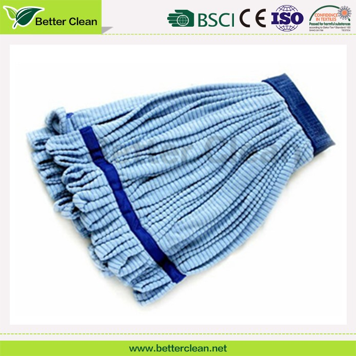 strips of cloth with blue bead washable floor clean cloth microfiber head mop