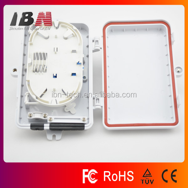6 ports ABS FTTH outdoor waterproof optical fiber termination box