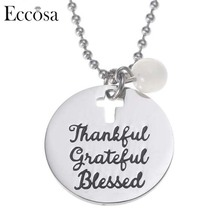 Eccosa Fashionable New Design Necklace Stainless Steel Accessories Custom Engraved Bar Necklace For Women And Men