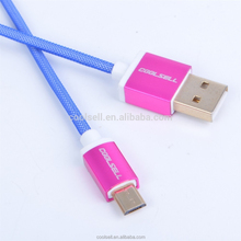 Micro USB Charger Cable 1.5M Mesh Braided Nylon 5pin V8 Data Sync Charging Cord For Samsung S6