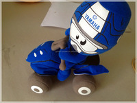 customized CE/ATSM new design popular plush motorcycle toys custom soft toys