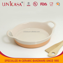 UNICASA hotsale ceramic plate with cut edge ,gold rimmed dinner plate,plate&dish