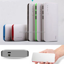 high quality 10000mAh External Charger 3 USB port with LED light mobile phone power bank