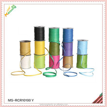 gift package paper raffia rope ribbon in egg and roll for holiday pack