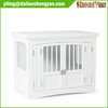 Bedroom Furniture Wood Dog Crate End Table 2 Door White