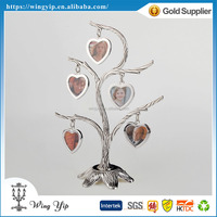 OEM and ODM good quality Heart Tree style Silver 5 Hanging Photo Frame