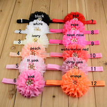 Baby Headband Flower Hair on elastic Bands Children Hairband baby headband