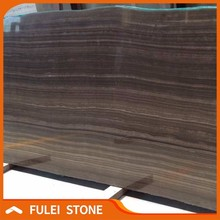 Polished top quality vein cut tobacco brown eramosa marble slab price