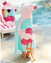 high quality organic cotton swan hooded bath beach towel 70*100cm China supplier