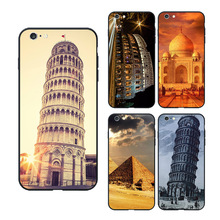 World famous architecture Phone Case for Apple iPhone 5 5S 6 6S 7 8 Plus Custom Leaning Eiffel Tower Soft Silicone Back Cover